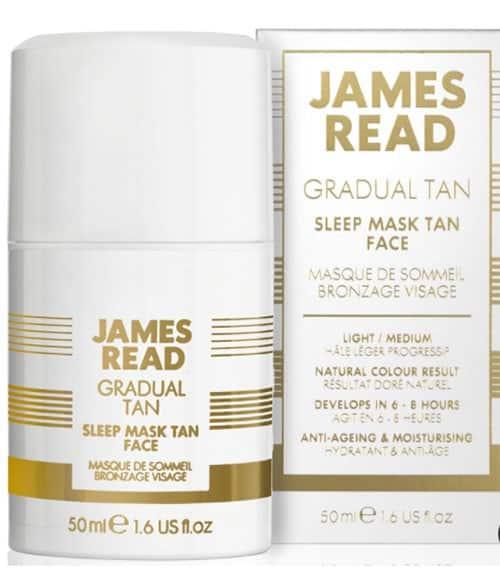Sleep tan mask gradual